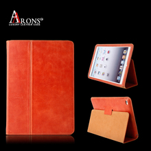 Premium book opening cover case with magnetic for ipad case leather