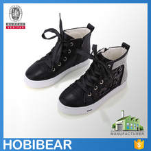 2016 branded casual shoes high top canvas shoe