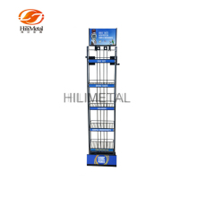 Store Both Side Printed Customized Display Rack For Coffee