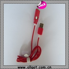 new designed led lighting usb data cable for mobile phone with led light wholesale
