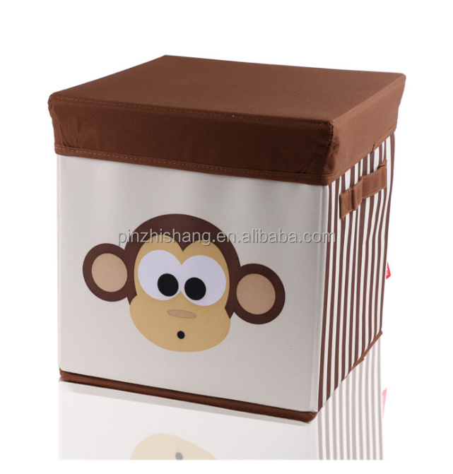 Storage Toy Box Foldable Toy Storage Bin Fabric Cube Linen Bins