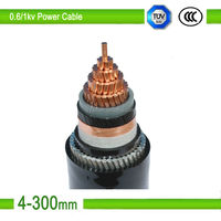XLPE insulated PVC sheath low voltage copper conductor steel wire armored cable