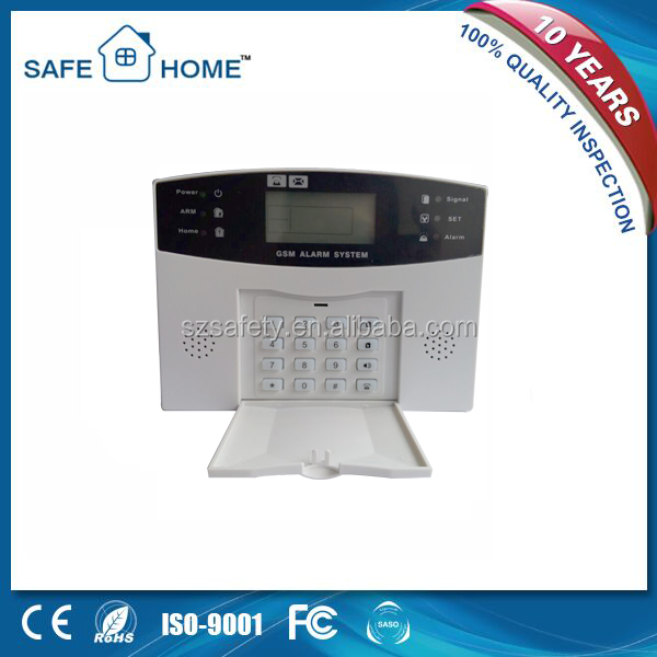 Auto dial wireless gsm security mobile call alarm system with LCD display and voice prompt function