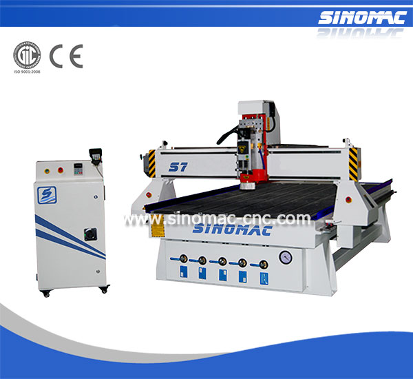 Jinan Sinomac S7-1325 DSP Control with G Code/ 3D CNC Wood Carving Router