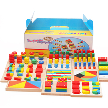 Montessori Materials 3d Puzzle Diy Toy 14pcs/set