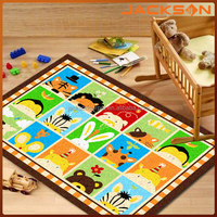 animal pictures and cartoon pictorial kids carpet