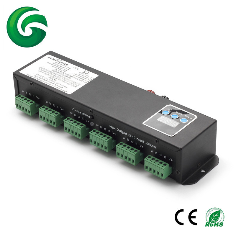 6X4CH 6X3CH RGB/RGBW 24CH DMX Led Controller/DMX Decoder with RJ45 interface