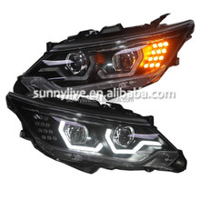LED Head Lamps LED Headlights Bi Xenon Projector Lens for 2015 Year TOYOTA Camry v55 LD