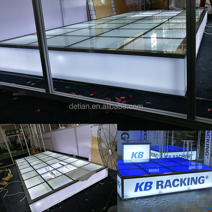 Detian Display offer glass floor, glass stage for exhibition trade <strong>show</strong>