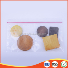 Food grade transparent resealable plastic food bag