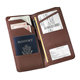 Nappa Leather Checkpoint Passport Case Long Passport Holder with Clear Slot Currency Pockets