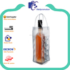 Eco-friendly single clear plastic wine bottle cooler bags