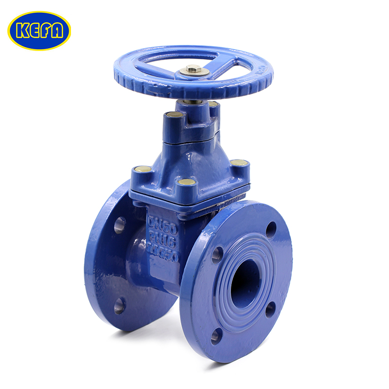 KEFA 4inch 50mm Ductile iron handwheel din 3202-f5 gate valve with price