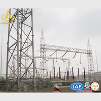 Electrical Transmission Line Steel Substation