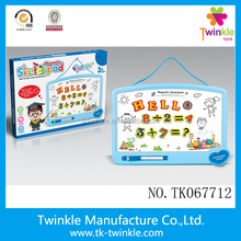 Magnetic sketchpad with letter number and symbols writing board