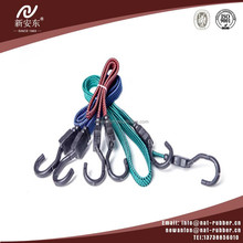Good latex bungee cord rope with plastic metal hooks