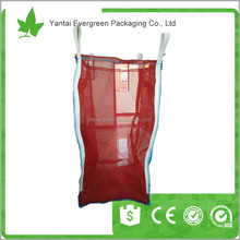 China Factory top full open pp big bag breathable jumbo bags 1000kg for packing firewood onion and potato