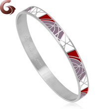 Unique stainless steel enamel bangle jewelry