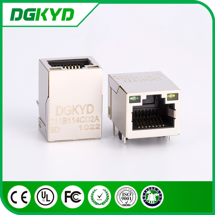 90 degree DIP 8p8c rj45 transformer connector