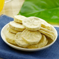 Delicious vacuum freeze dried banana sliced