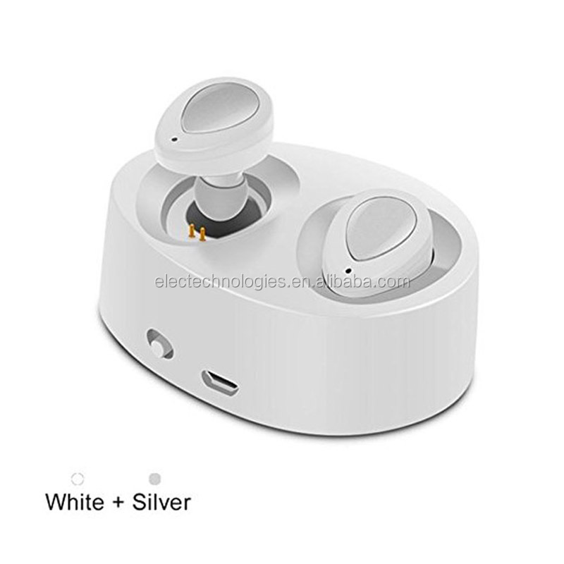 Wireless mini noise cancelling earbuds for double ears