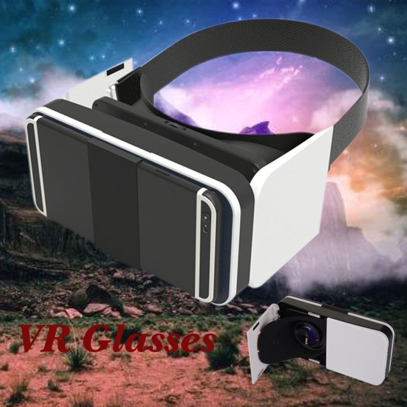 Fashion Glasses Virtual Reality 3D VR Box , Smart Phone Download Free Video For VR BOX