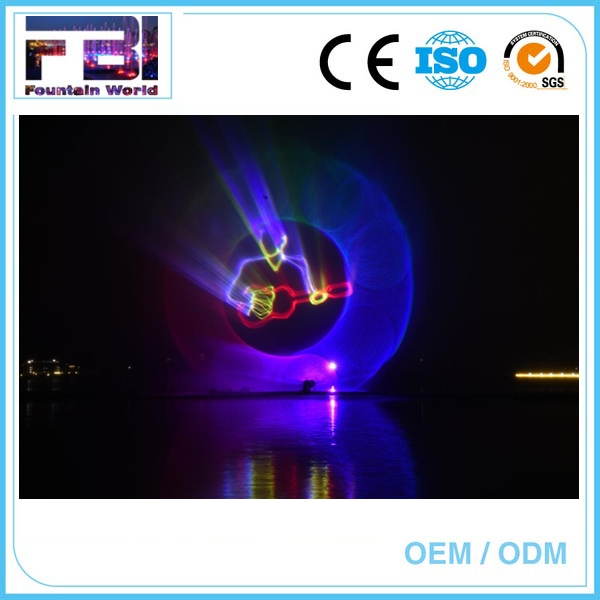 Digital laser dancing water fountain water screen movie fountain