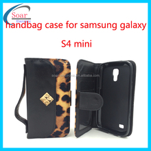 Genuine leather flip phone case for samsung galaxy S4 mini