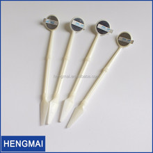 Plastic Disposable Oral Dental Mirror/Cheap Sterilized Disposable Dental Mouth Mirror Suction