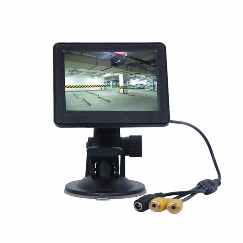 Top selling 3.5/4.3 Inch cctv TFT LCD Car Monitor Car Rearview Monitor for Security Backup Parking
