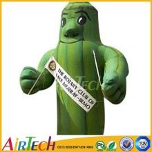 Green cartoon body inflation,advertising inflatable for sale