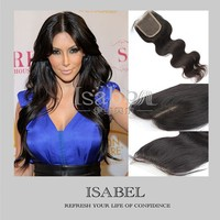 "16"" Isabel new products Wholesale virgin brazilian hair middle part lace closure"