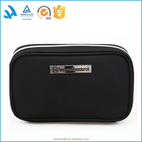New arrival black polyester pencil case for school students hot sale