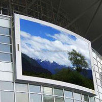 Fix installation waterproof p20 outdoor led large screen display