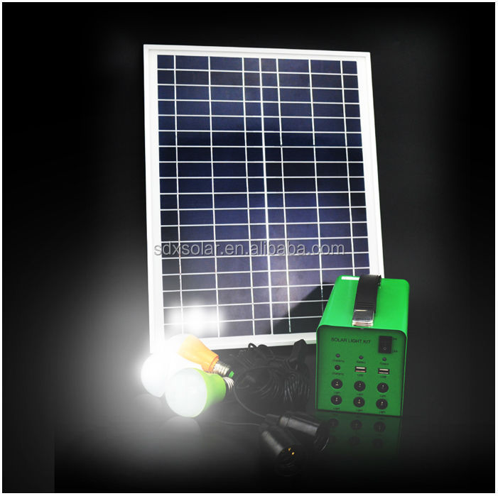 Solar Panel Systems India 17Ah 30W Mini Project Solar Lighting System For Backup