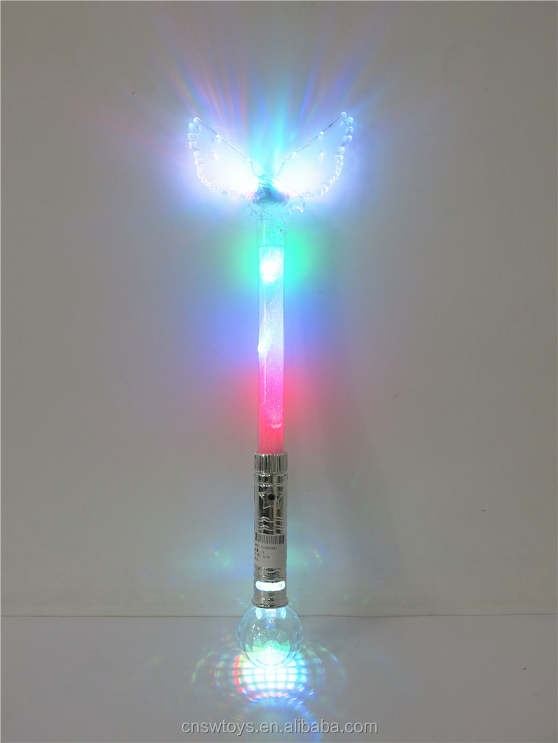 DJ2602055 Hot sale low price top quality flash Butterfly fairy diamond glow stick not include 3AAA