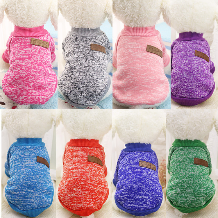 Pet Dog Puppy Classic Sweater Coat Tops Fleece Warm Winter Knitwear Clothes