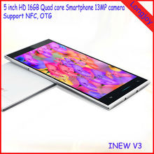 Ultrathin iNEW V3 MTK6582 1.3Ghz 13MP Camera Quad Core 1GB RAM 16GB ROM 5.0inch Android 4.2 Mobile Phone
