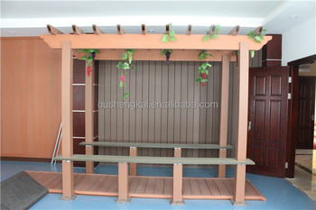eco-friendly wpc pergola with high quality made in china
