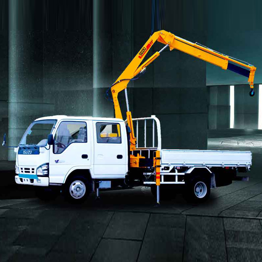 SQ3.2ZK1 New Knuckle Boom 3 ton Crane Truck for Sale