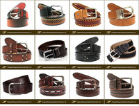 Custom wholesale all kinds of fashion casual men leather belt genuine leather belt