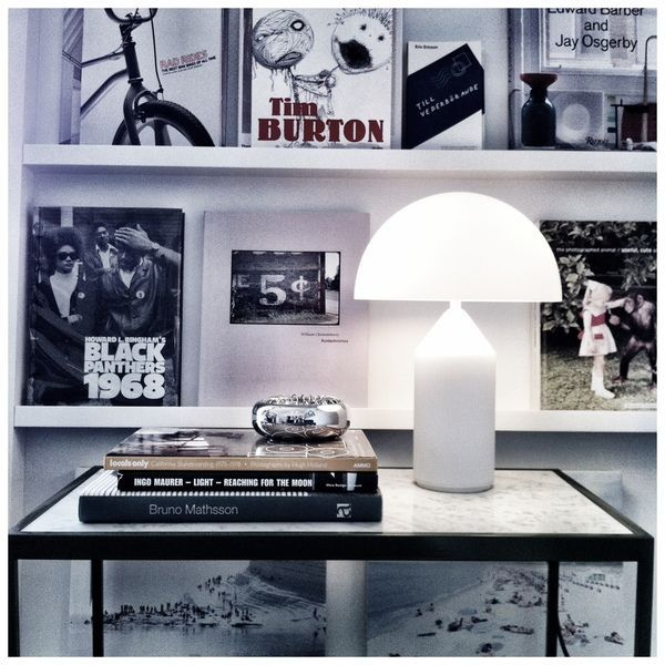 7.26-9 LED table lamps for home decor replica white glass oluce atollo table lamp