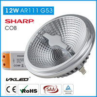 narrow beam angle 2700k 12W 230V dimmable g53 10 degree high power led spotlight ar111