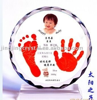crystal baby shower Favor with cute shape in china