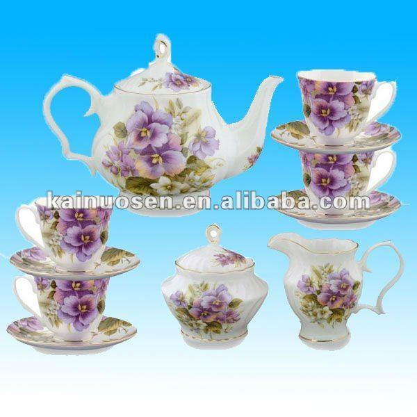Purple tea sets fine porcelain