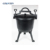 Cast iron camping outdoor pressure cooker with 3 legs