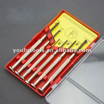 hotsale 6pcs Precision Jewelers Screwdriver Watch Repair Tools