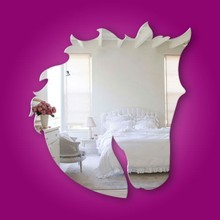 Horse head Acrylic Mirror Wall Decals,removable mirror decals
