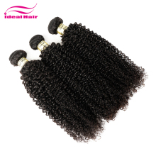ideal Best grade of light brown curly hair weave extensions,natural kinky baby curl hair weave