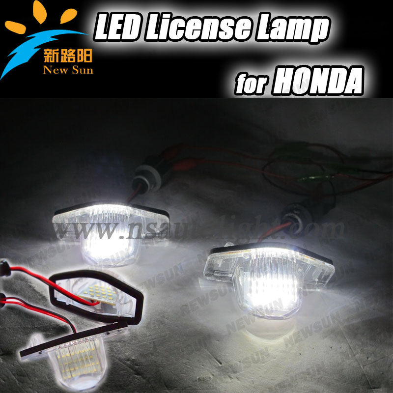 Super Brightness for honda series,led license plate lamp for odyssey 08,led number plate lights for stream 01-05